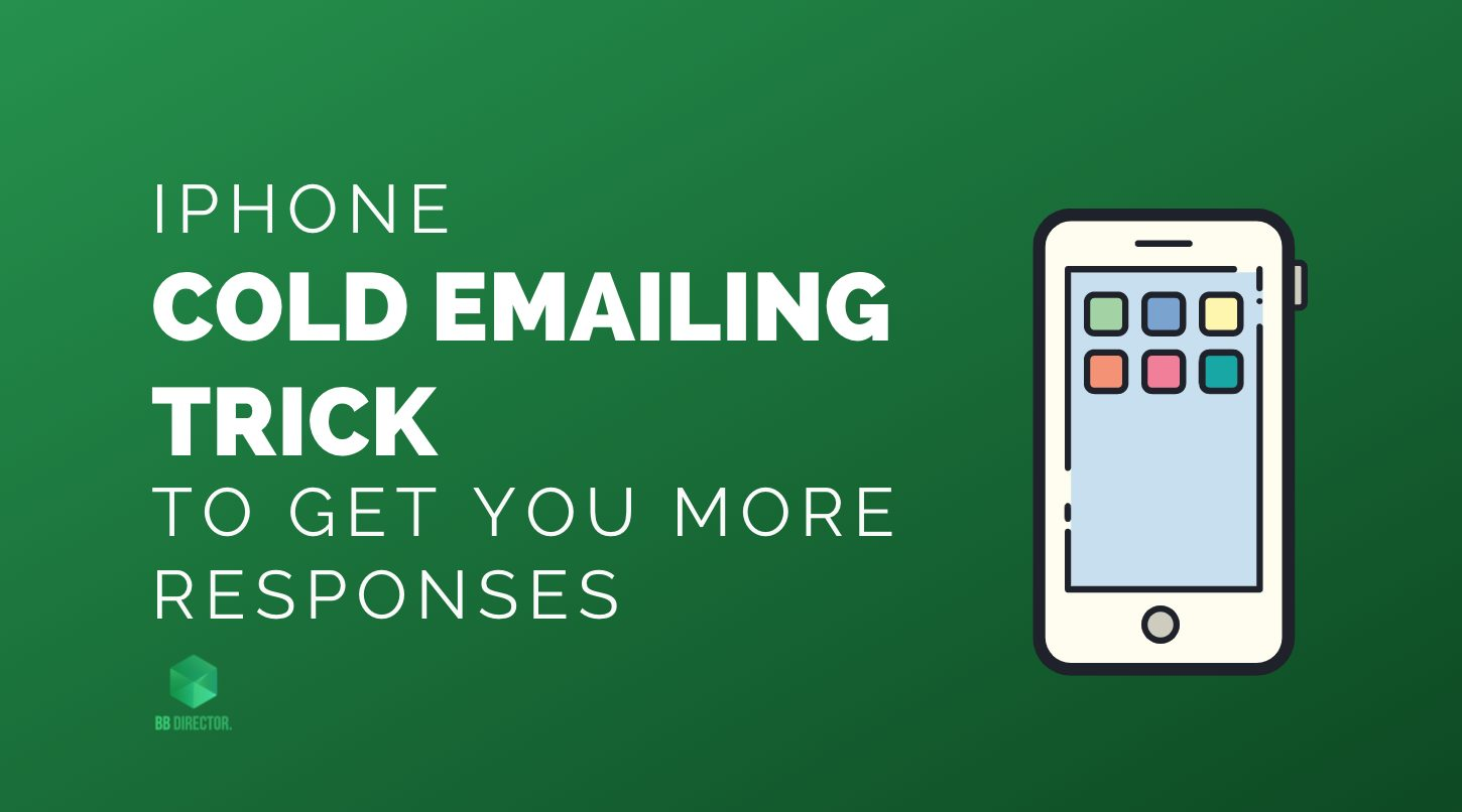 IPHONE COLD EMAIL TRICK
